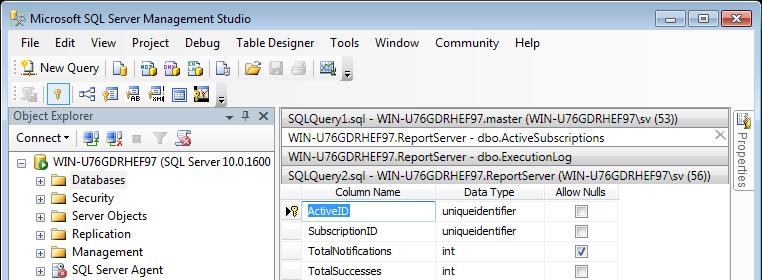 Tabs Studio tabs in Microsoft SQL Server Management Studio