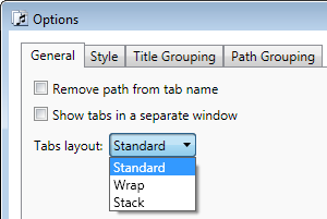 Tabs layout option
