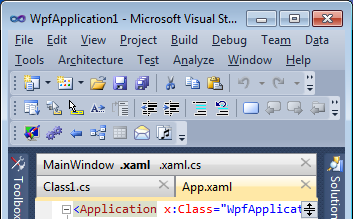 Fixed stretch tab alignment in Visual Studio 2010