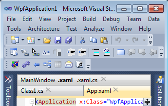 Left tab alignment in Visual Studio 2010